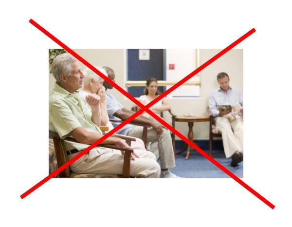 Social distancing in Arztpraxen